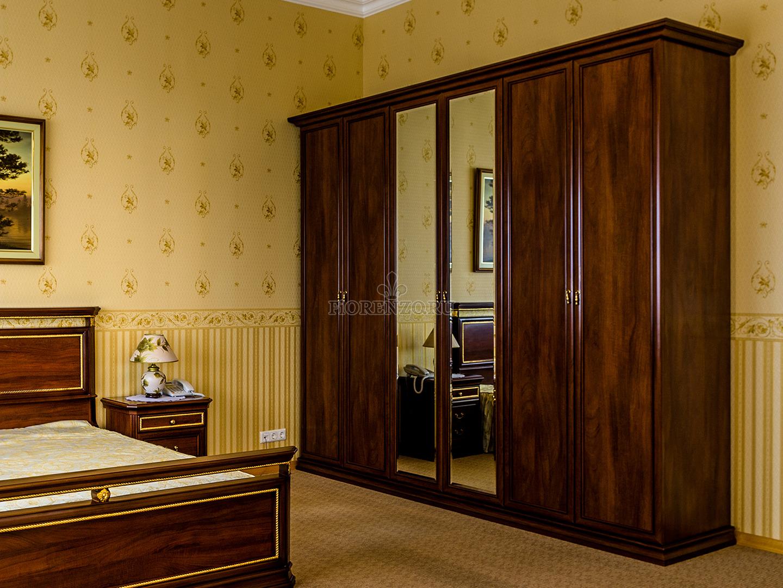 шкаф распашной из шпона палисандра в спальню по индивидуальным