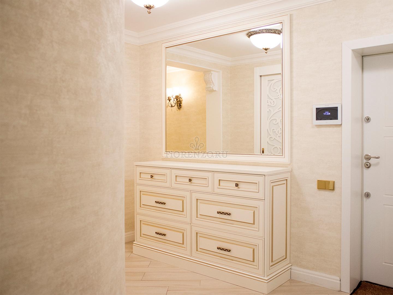 Белый шкаф для обуви в прихожую
