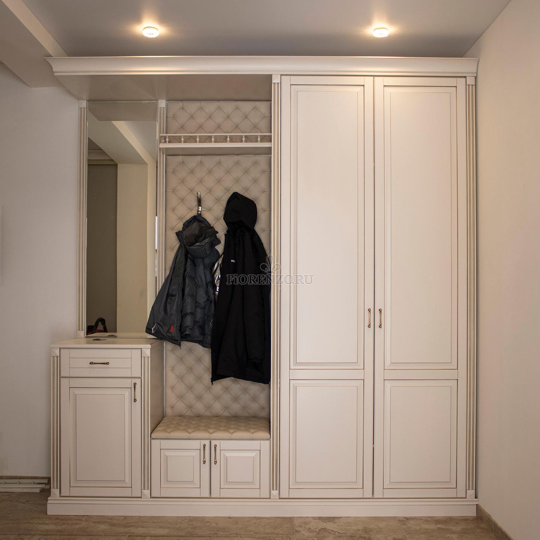 Шкаф из МДФ в прихожую с открытой вешалкой
