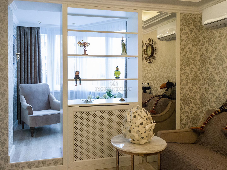 Декоративный стеллаж для балкона