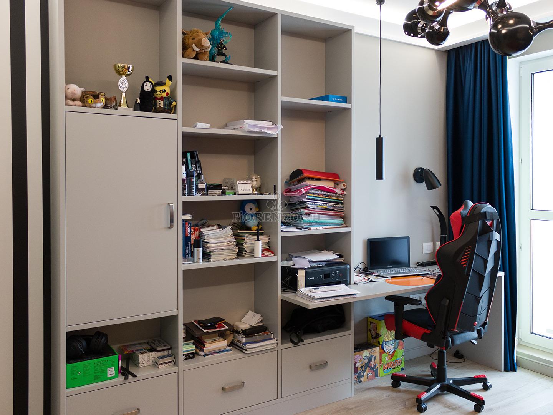 Стеллаж для книг и рабочее место в детскую