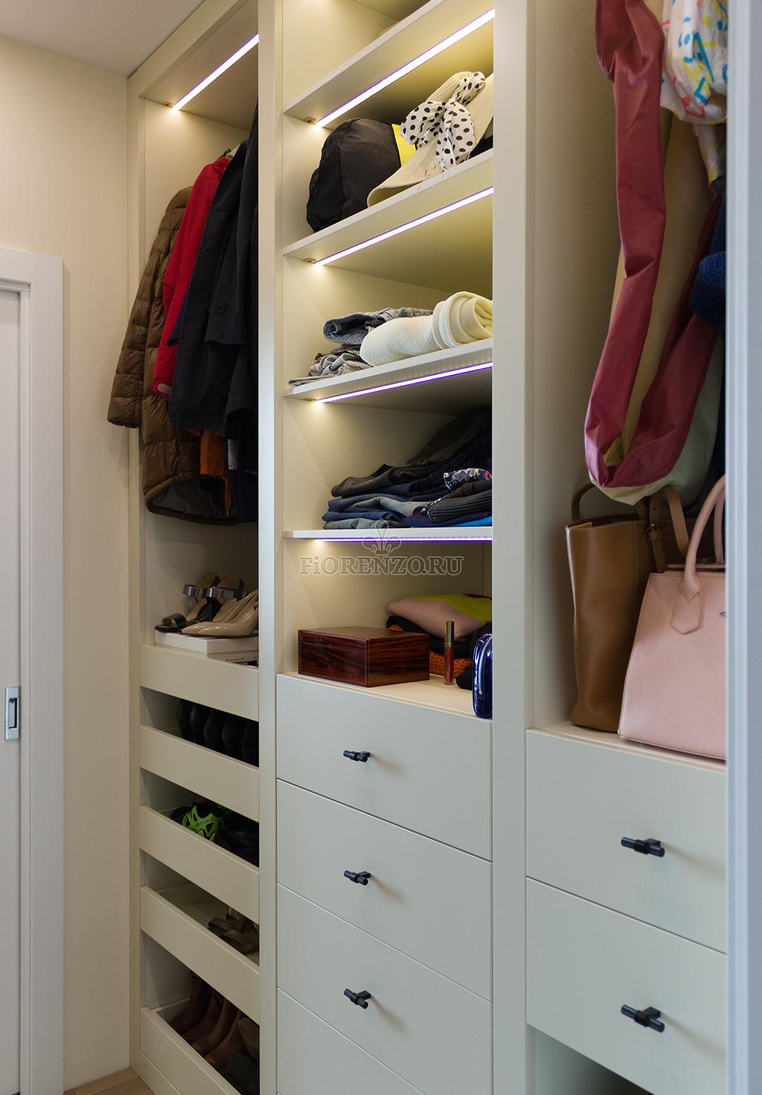 Эксклюзивная гардеробная комната